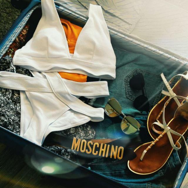 Zaful swimwear in my suitcase