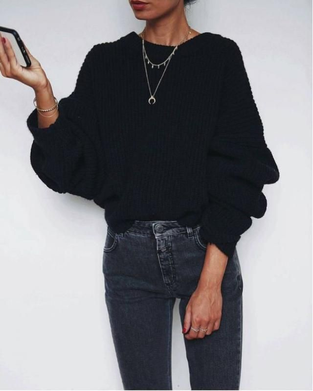 Cut Out Chunky Choker Sweater BLACK: Sweaters ONE SIZE | ZAFUL