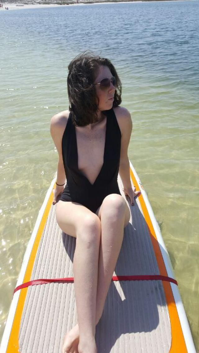 My paddle boarding beach days aren't complete without this suit. I love how the material feels, light weight and alwa…