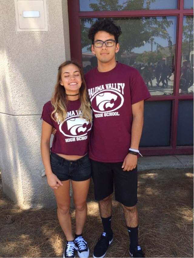 Monday was twin day at school for me