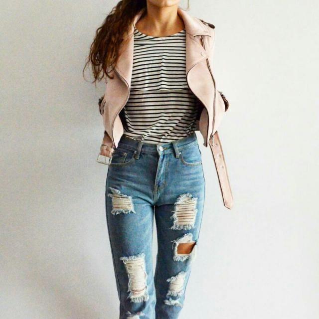 Back to school look: jeans- ZAFUL jacket: ZARA