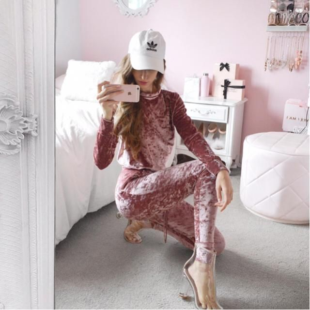 Pink velvet is something every girl should have a little bit of.