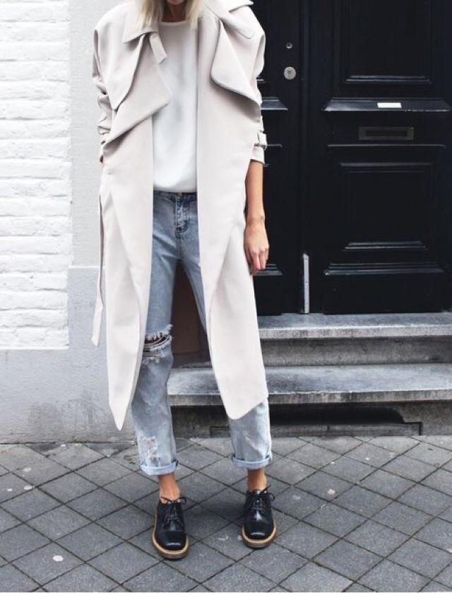 Outfit of the day: coat and wedges.