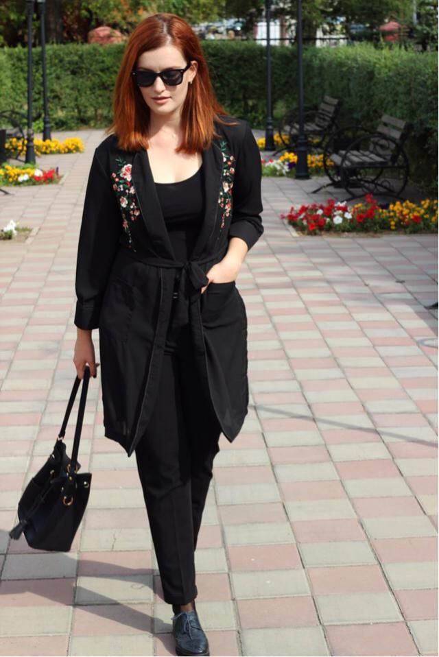 Floral trench coat http://sashashut.blogspot.com/2017/09/zaful.html