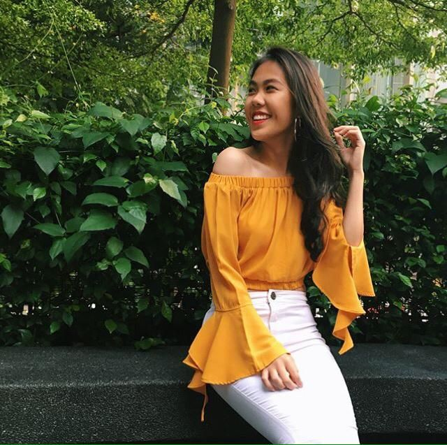 Choose a yellow blouse to bright up your mood, yay or nay?