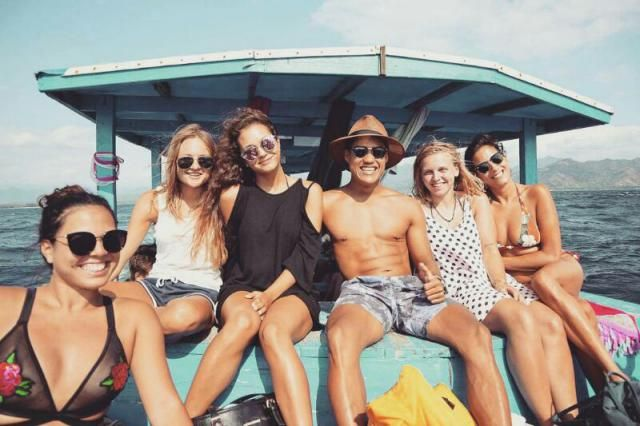 Gili t island trip wearing the best bikinis