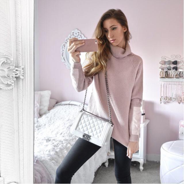 Super soft blush pink sweater