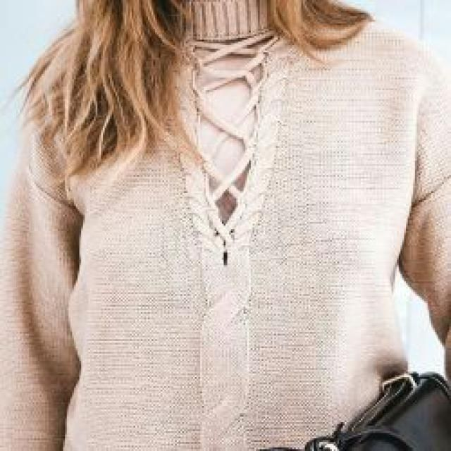 The sweater with the details is my choice. More details is bigger happiness.