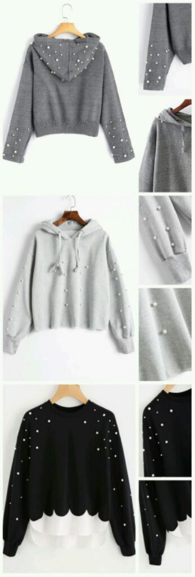 Sweater with pearls, so simple and so beautiful.