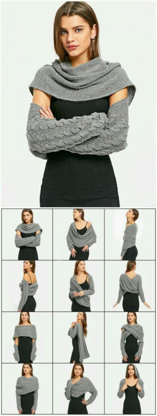 Convertible sweater, so practical. Like it.