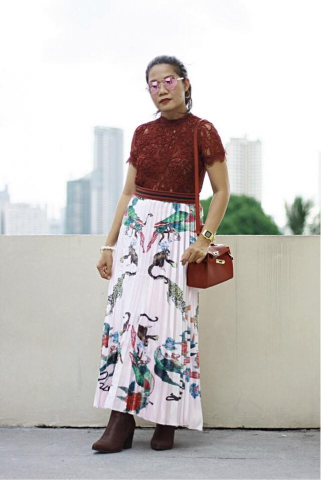 Pleats, Prints & Lace