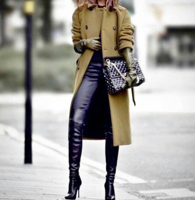 Long boots, perfect. Business woman style.