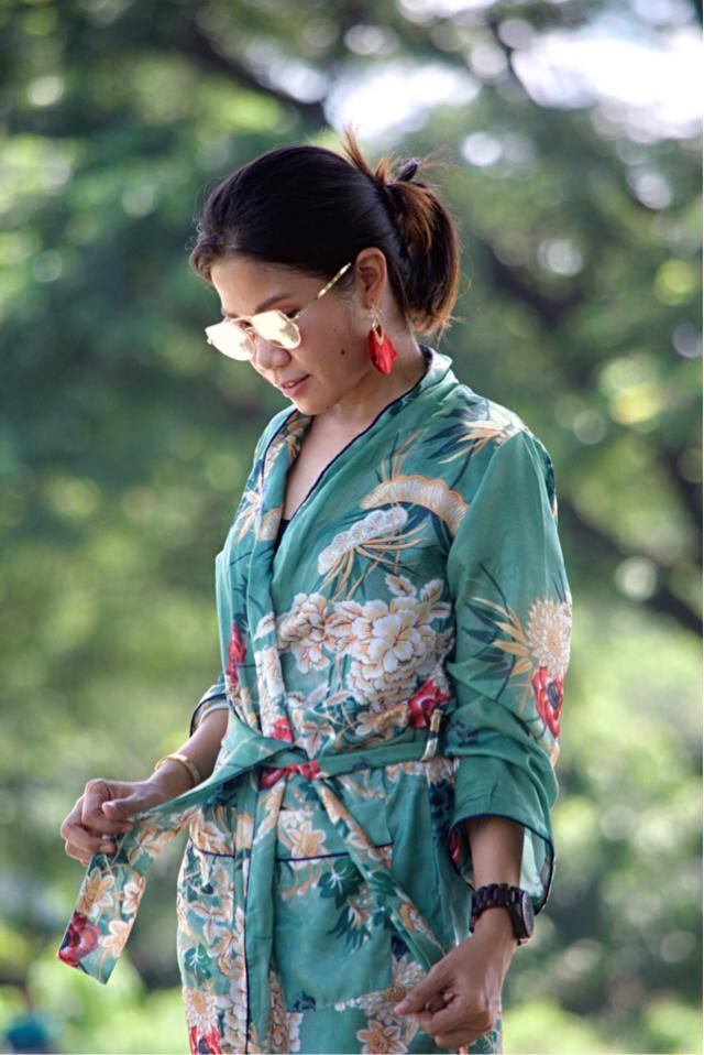 Kimono. Back to nature.