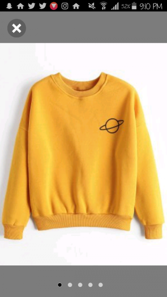I'm in love with this sweatshirt, I love the color and its really cute. Never really had one sweatshirt, also I've nev…