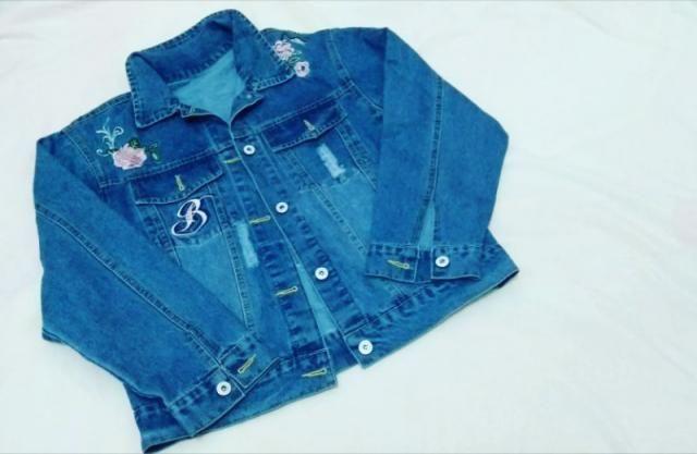 linda Jaqueta jeans da Zaful