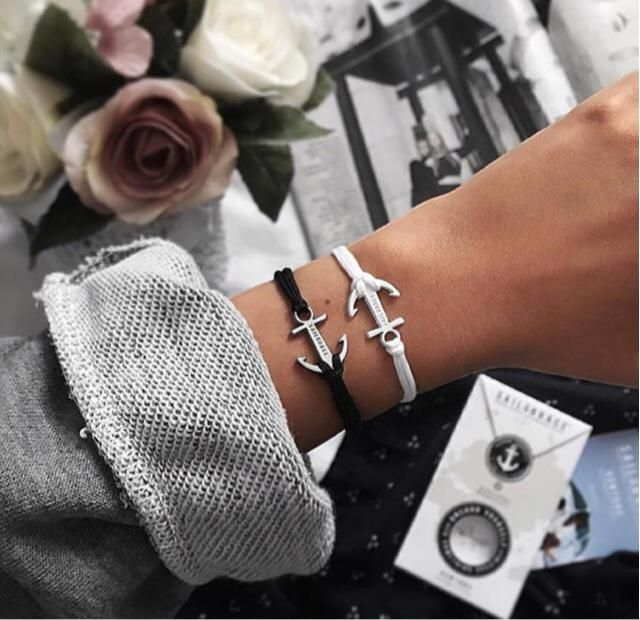 love these anchor bracelets x