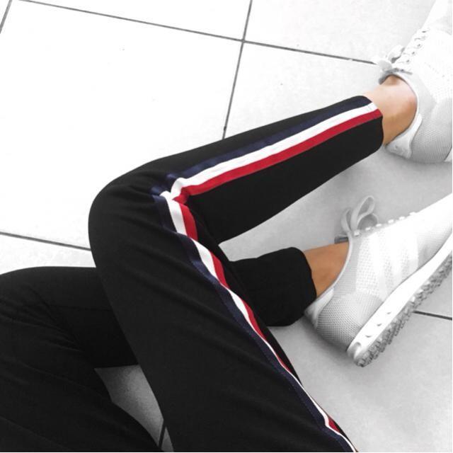 }stripes     Side stripes pants are my fav