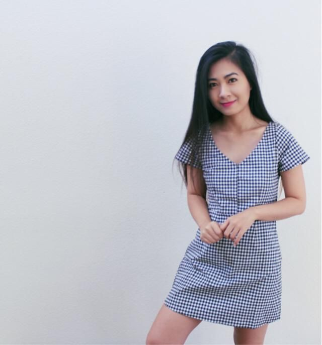 Gingham all the way    # ootd
