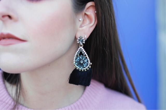 loving this statement earrings
