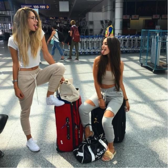 Friends at the Airport
