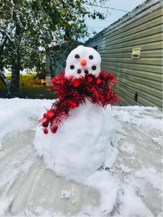 My tiny but cute snowman Freddie ❤️