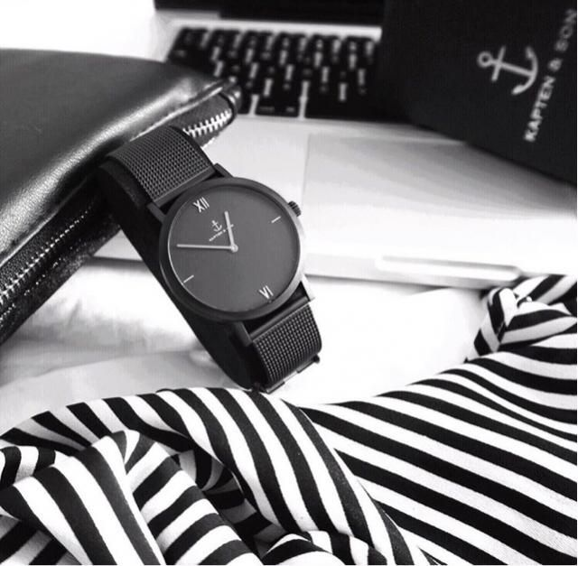 obsessed over my new black mesh watch