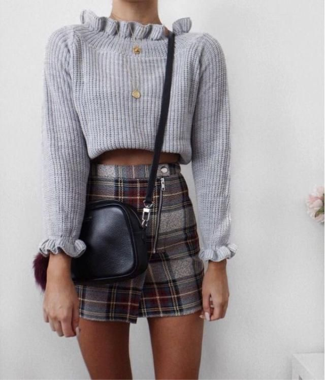 Gray and Plaid Look
