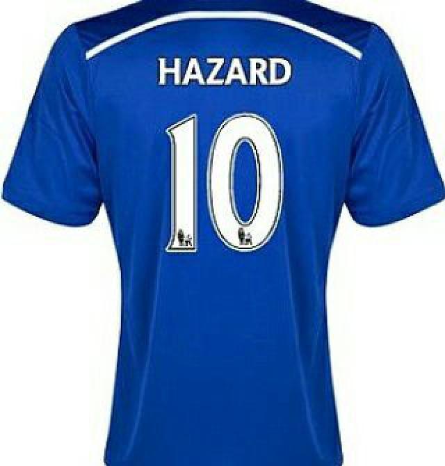 mens soccer jersey  Chelsea number ten hazard