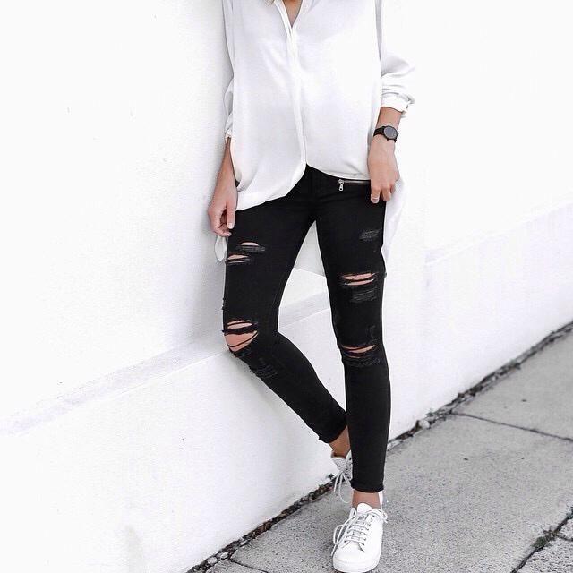 White shirt on january, yas or nah?
