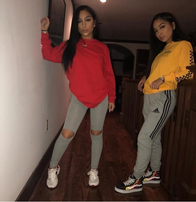 Stay at home look from the Siangietwins