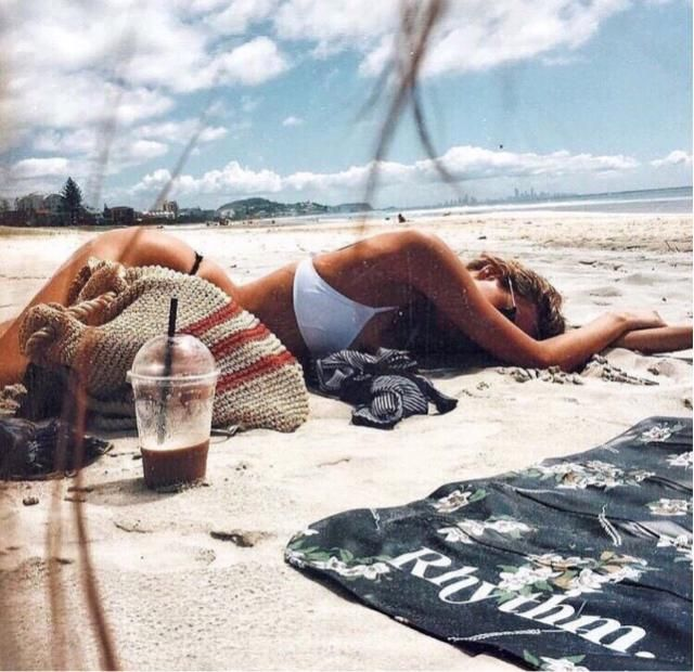 Laying down at the beach is the best feeling ever