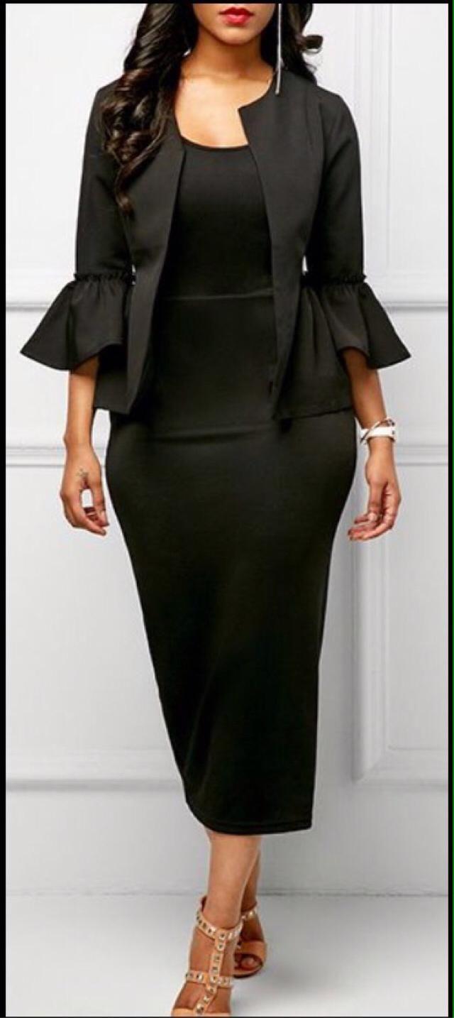 When in doubt. Wear black.