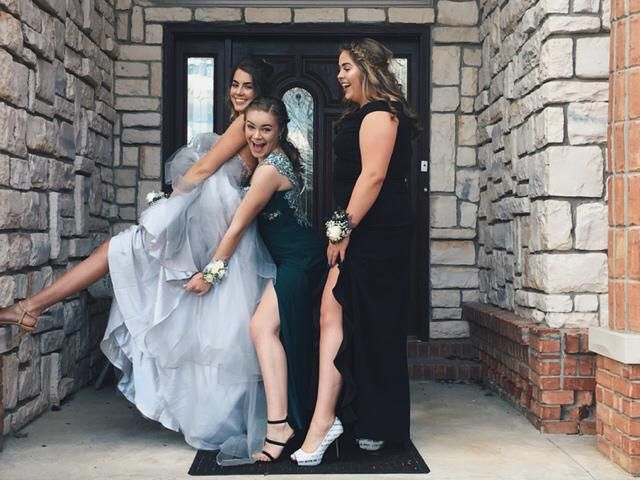 Going to prom with your best friends is the best route to go!