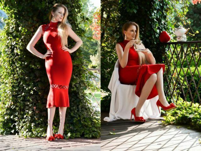 Red lover.              ZAFUL dress &earrings