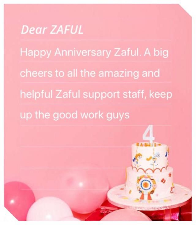 A big shoutout to everyone in the Zaful team for an amazing app, a good collection and wonderful support! Happy Anni…