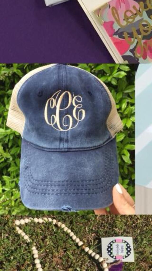 Cool hat would be cool with a monogram  from ZAFUl but a cute hat from here with a gram is cute