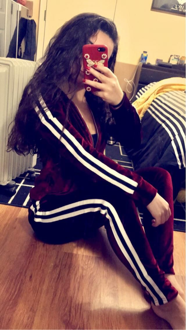 The perfect wine red track suit