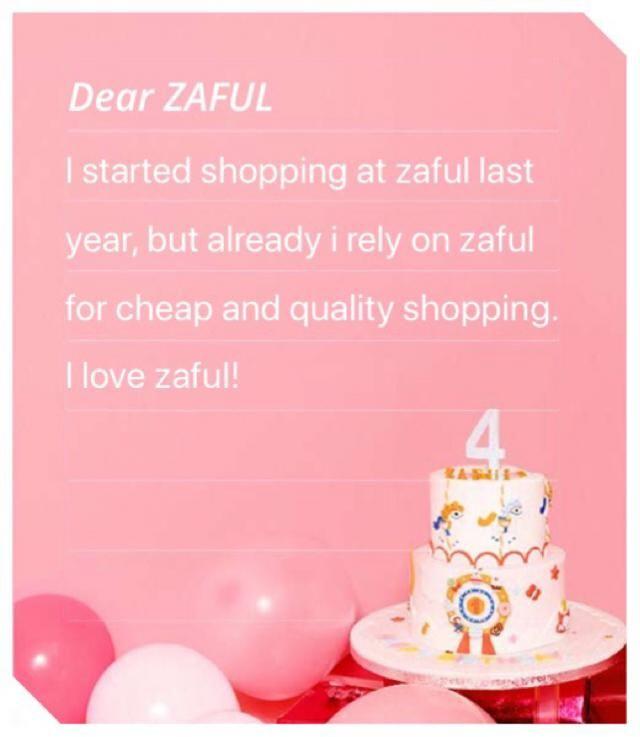 Happy 4th anniversary Zaful!!