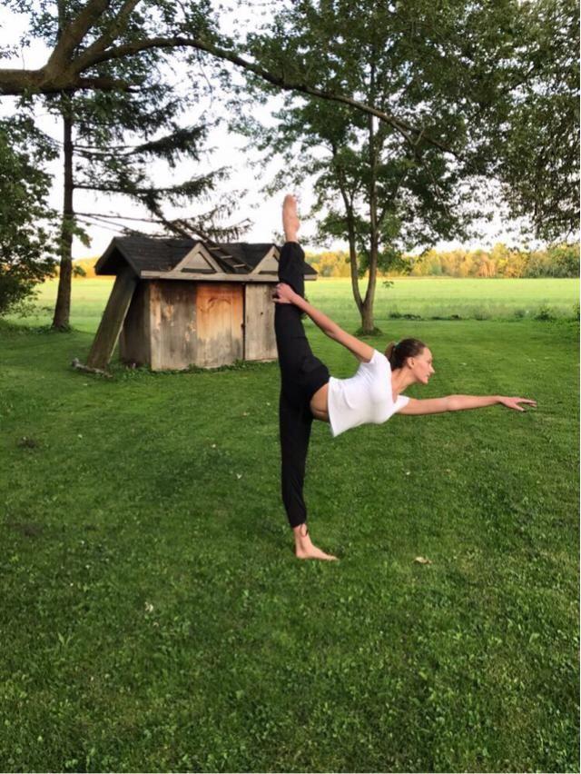 love dancing and doing yoga