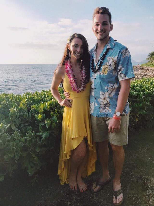 This dress was perfect for the luau!
