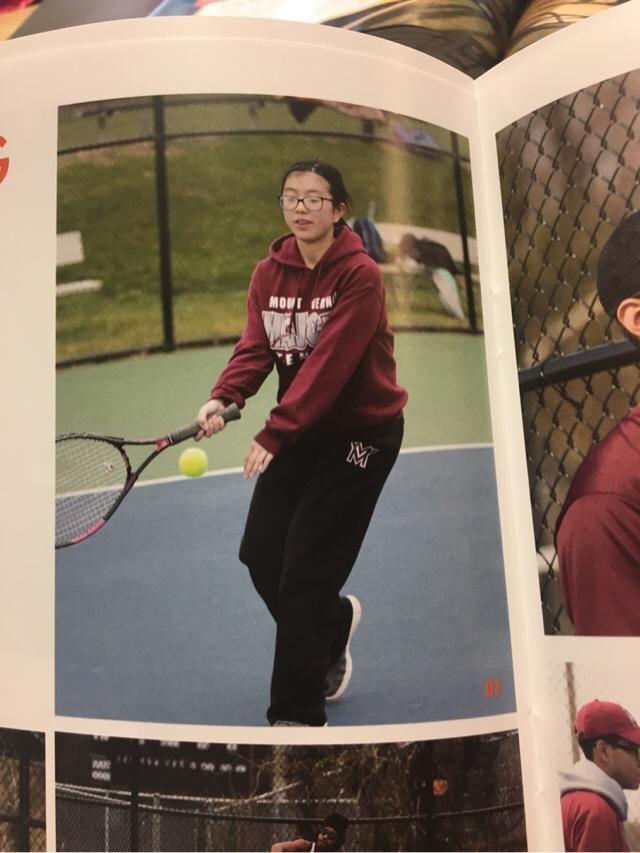 candid tennis shot