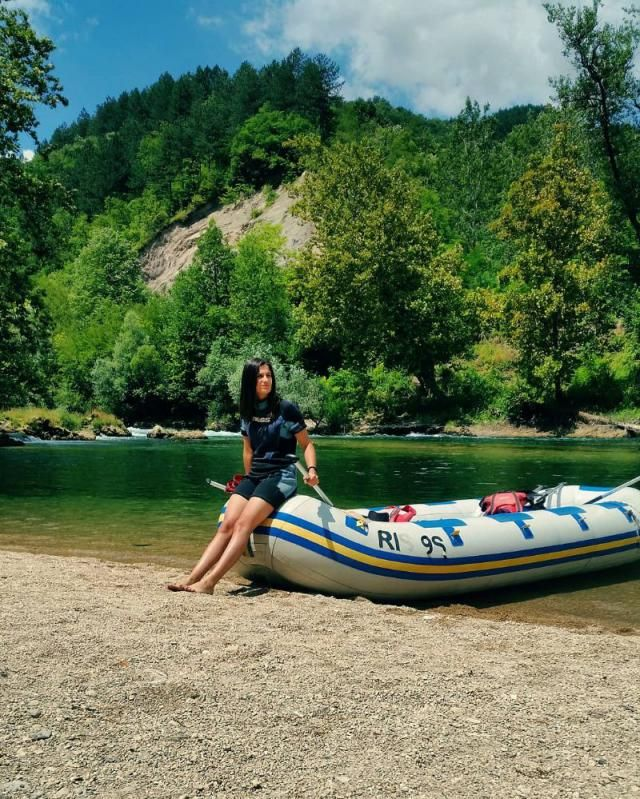 River Una is the most beautiful river in Bosnia and Herzegovina! Doing some RAFTING here LOL  | | |