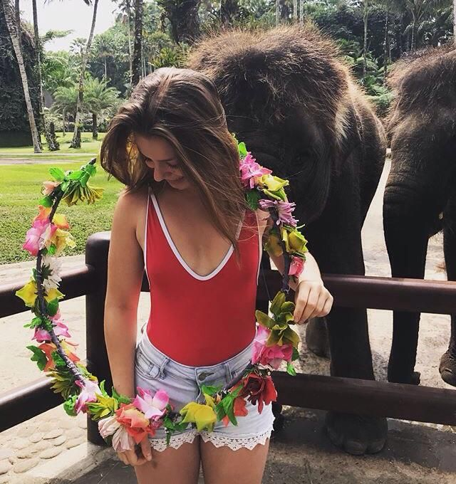 55ecb06fefe593 I like visiting zoo and travel on summer especially visiting elephant   wearswimsuitout  redmonokini  monokini  thongbikini  zakini   howtostrikeapose
