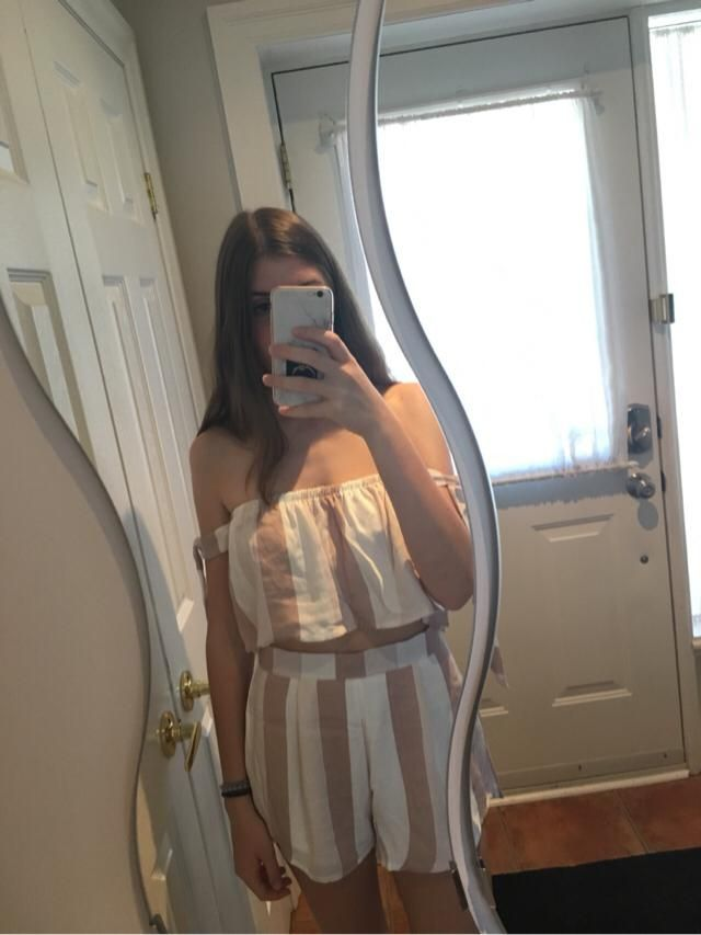 I love this so much! I'm 5'6 and ordered a medium. I'm normally a small but this fits great and the material is very go…