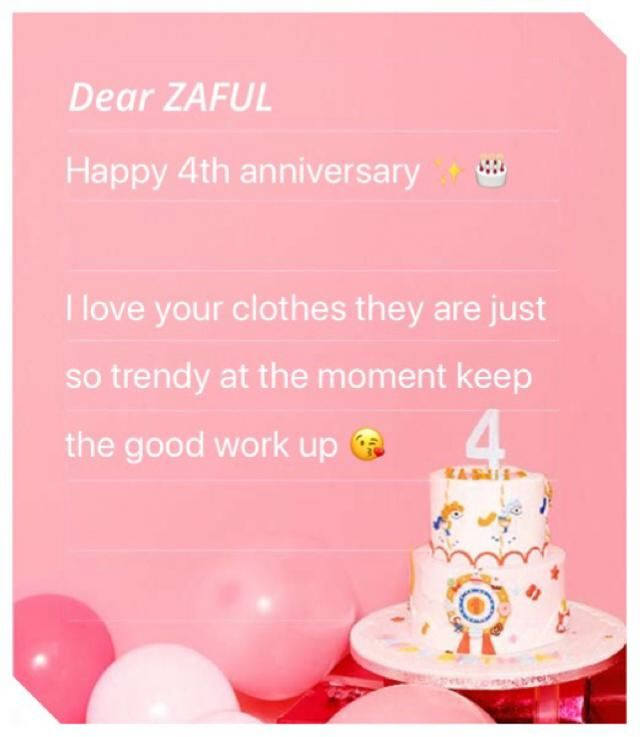 Happy 4th anniversary ZAFUL