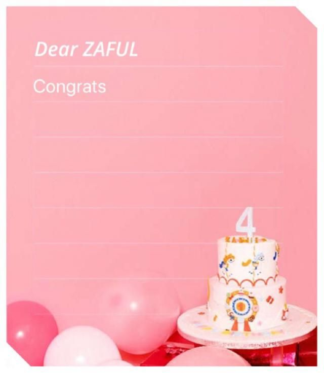 ZAFUL 4th anniversary!!
