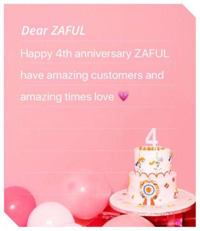Thank you ZAFUL!!! For all that love    -Me