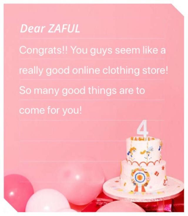 Congrats on your 4th anniversary!