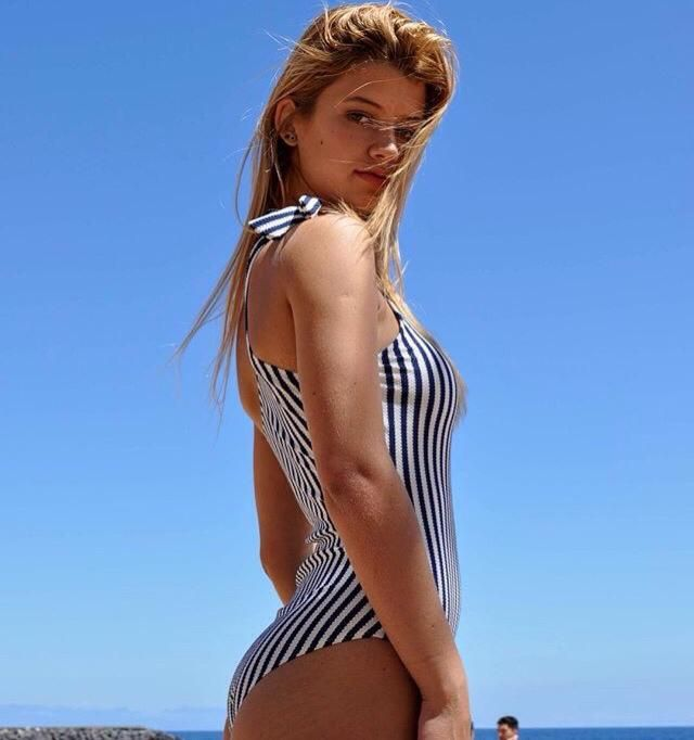 Wearing this stripe monokini will be the best thing you can do on summer break holiday