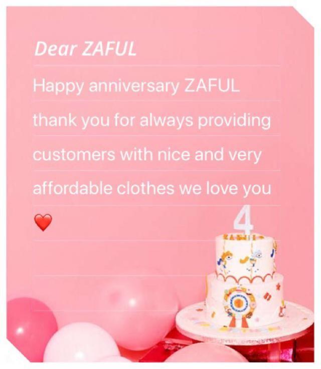 Happy anniversary ZAFUL
